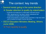 the context key trends