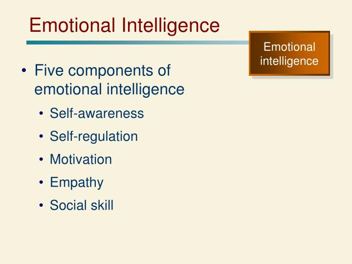five components of emotional intelligence These five ruler principles run parallel in many ways to social intelligence pioneer and author of emotional intelligence: why it can matter more than iq, daniel goleman's five components of.