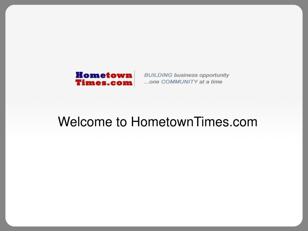 Welcome to HometownTimes.com