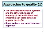 approaches to quality 1