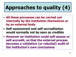 approaches to quality 4