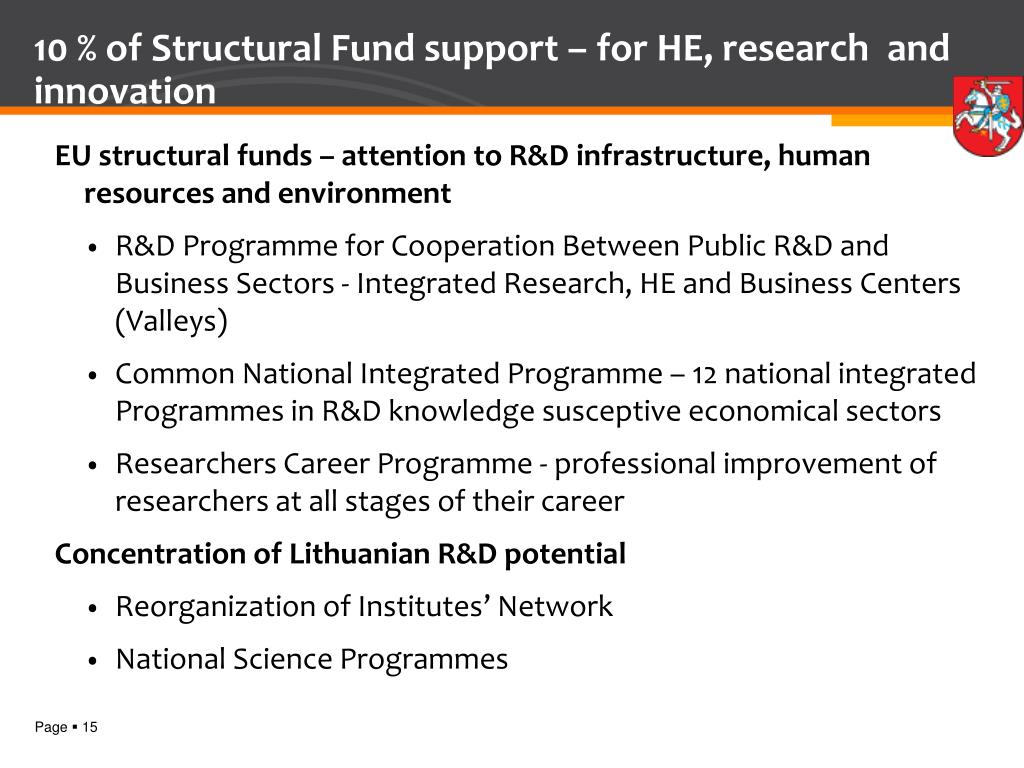 10 % of Structural Fund support –
