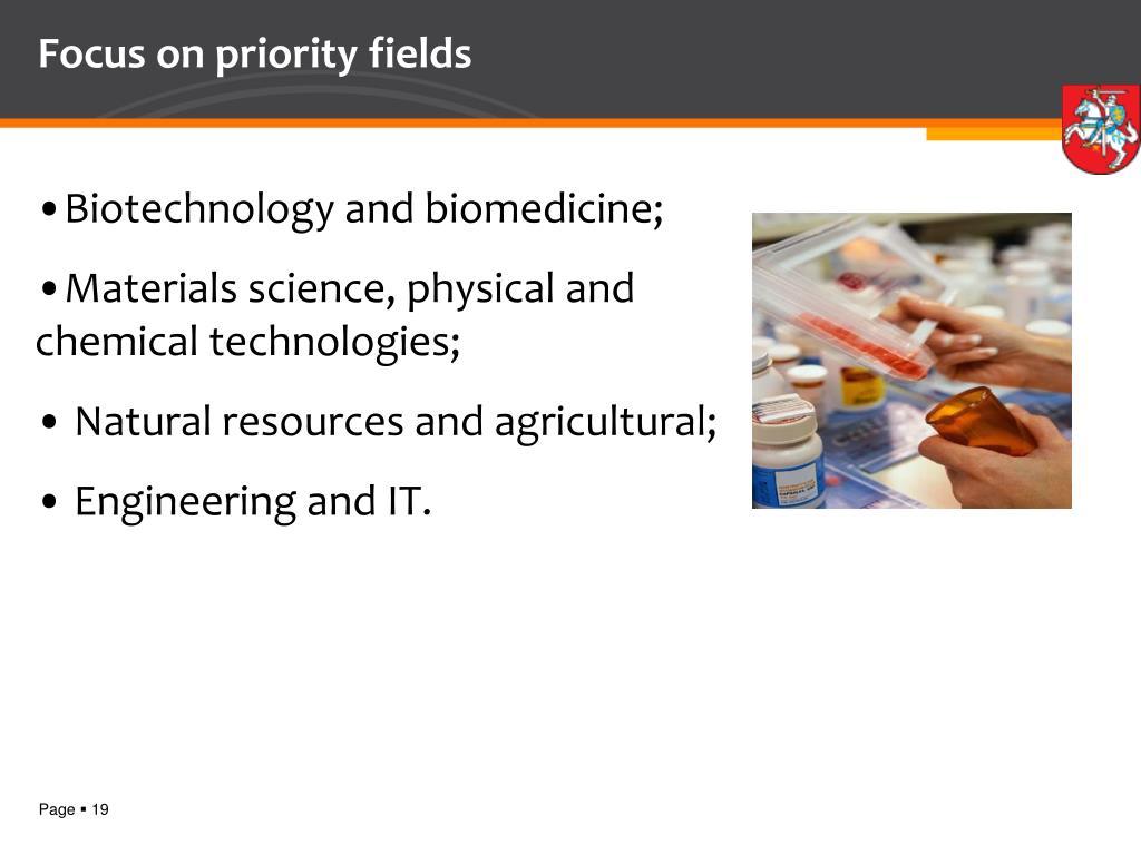 Focus on priority fields