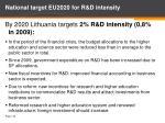 national target eu2020 for r d intensity