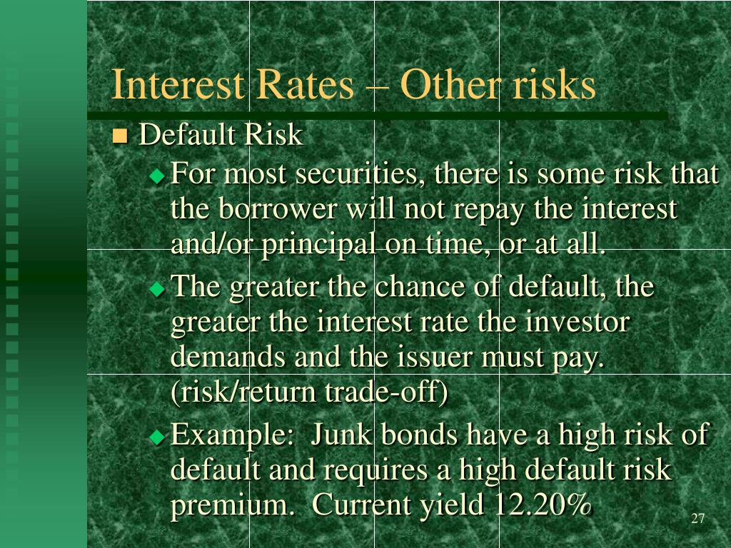 Interest Rates – Other risks