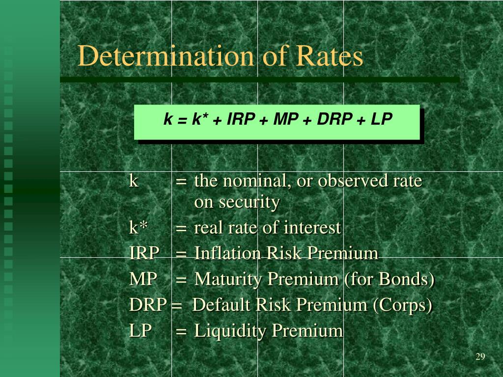 Determination of Rates