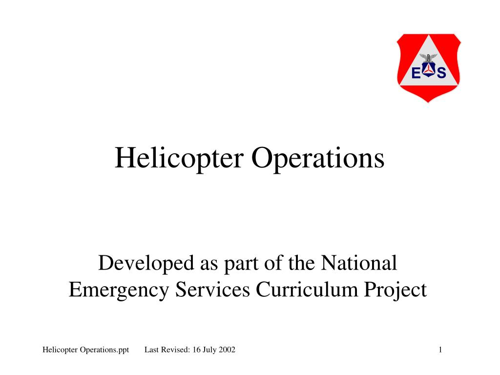 helicopter operations l.