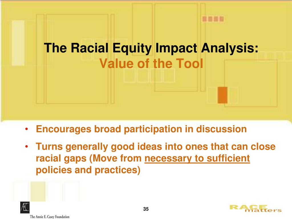 The Racial Equity Impact Analysis: