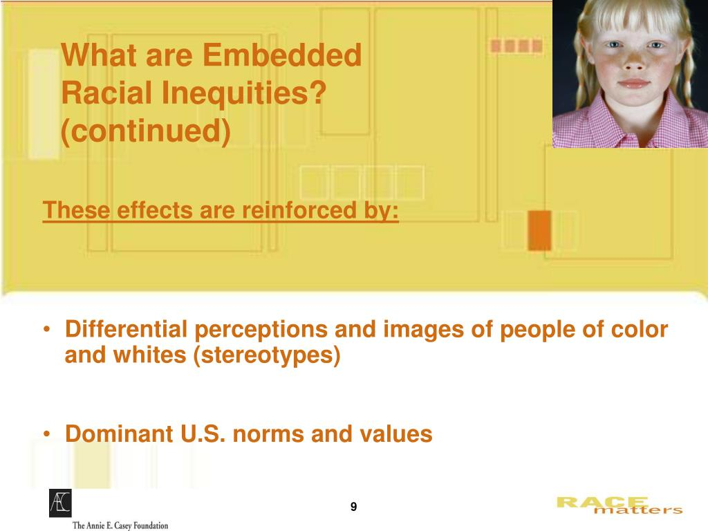 What are Embedded      Racial Inequities? (continued)