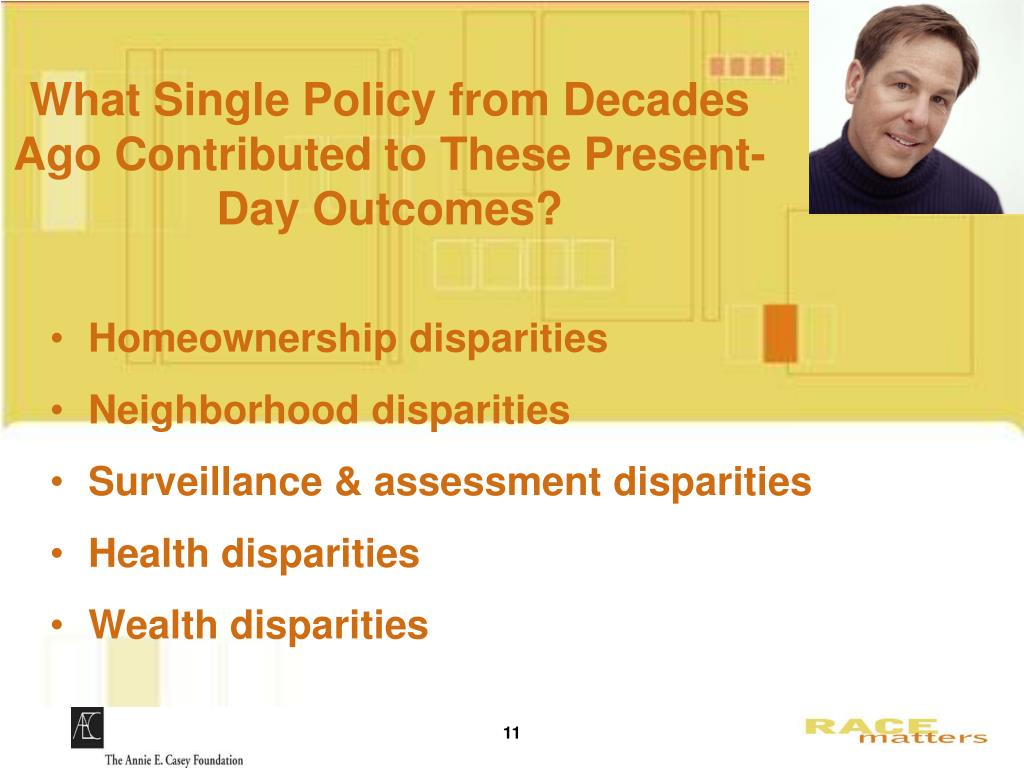 What Single Policy from Decades Ago Contributed to These Present-Day Outcomes?