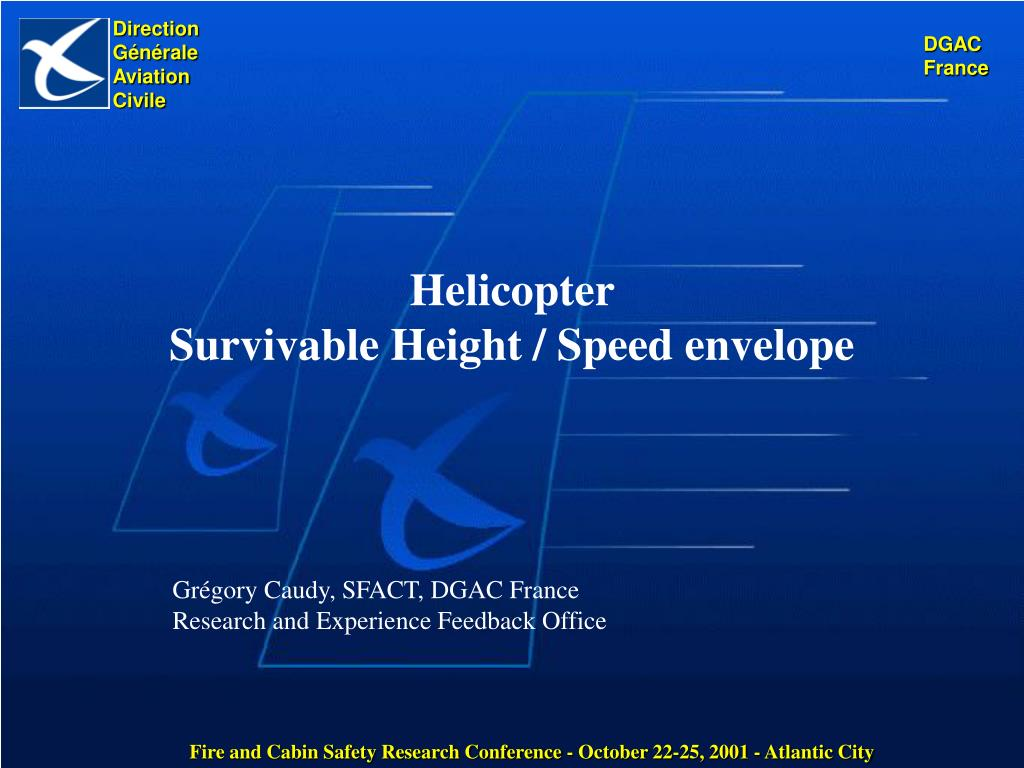 helicopter survivable height speed envelope l.