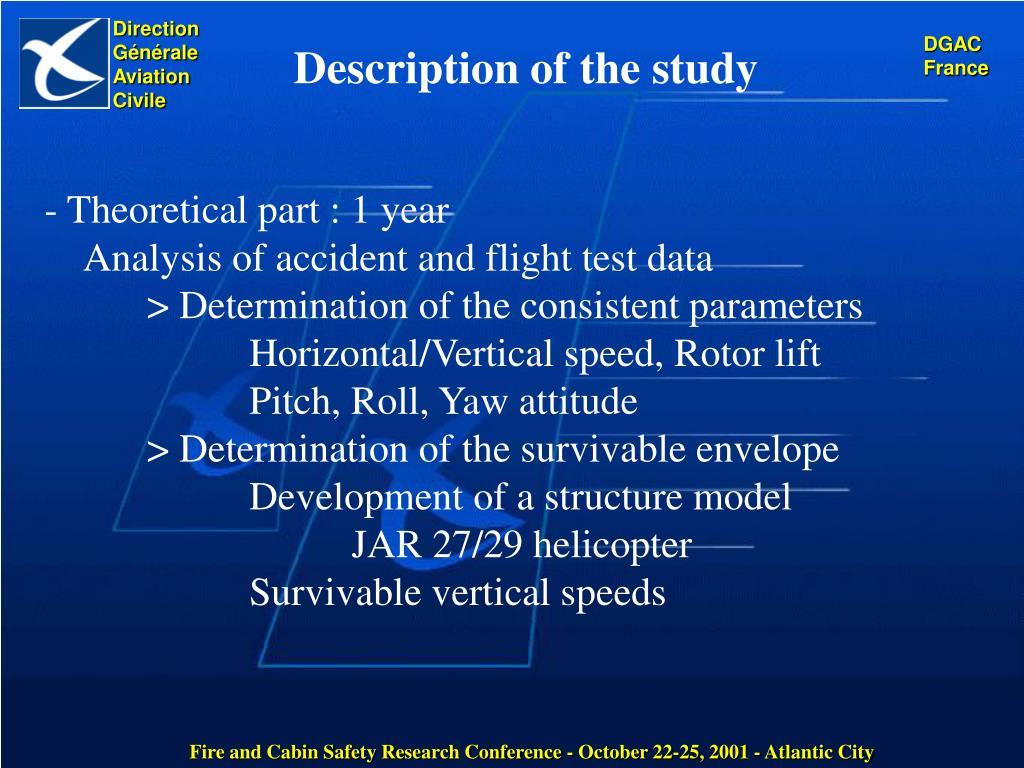 Description of the study