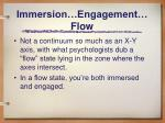 immersion engagement flow