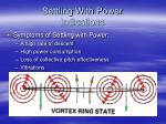 settling with power indications