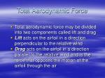 total aerodynamic force14