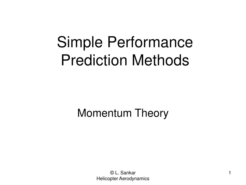 simple performance prediction methods l.
