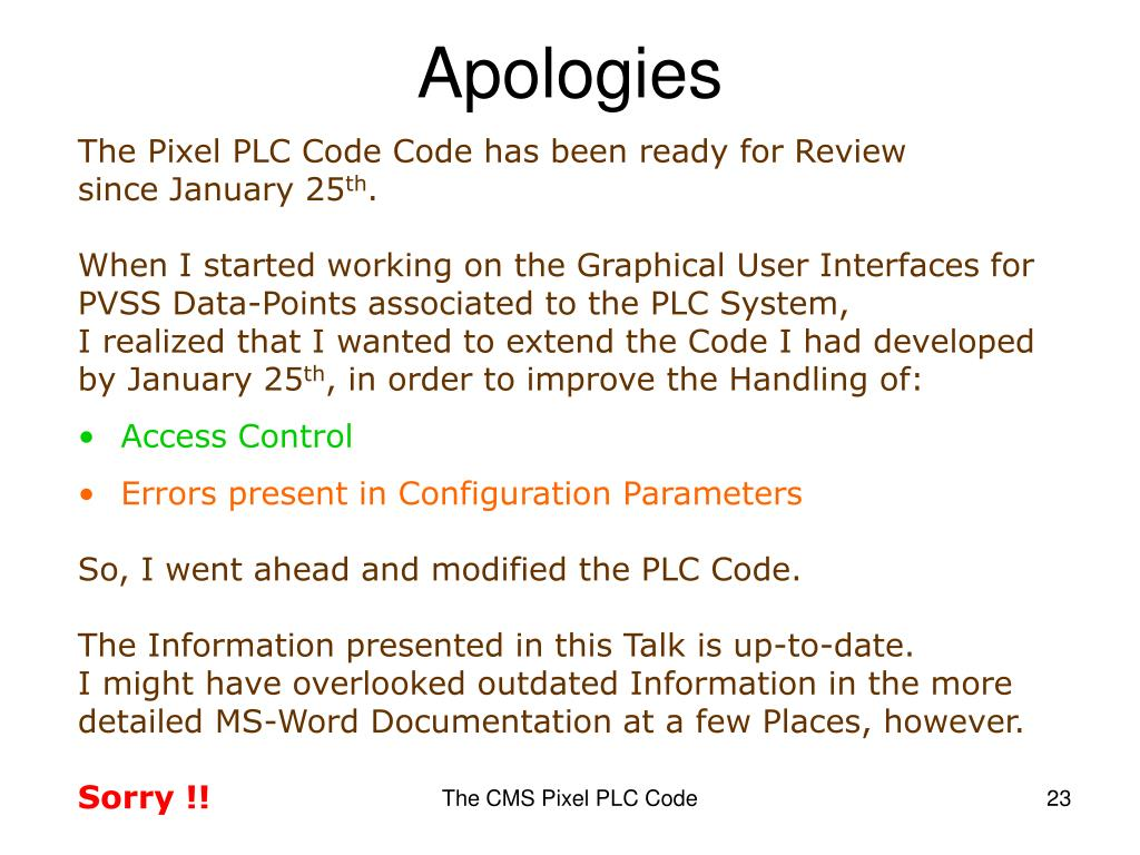 PPT - The CMS Pixel PLC Code PowerPoint Presentation - ID:397084