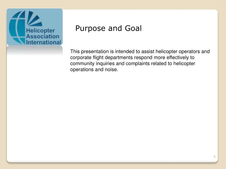 Purpose and Goal