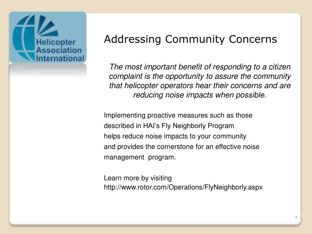 Addressing Community Concerns
