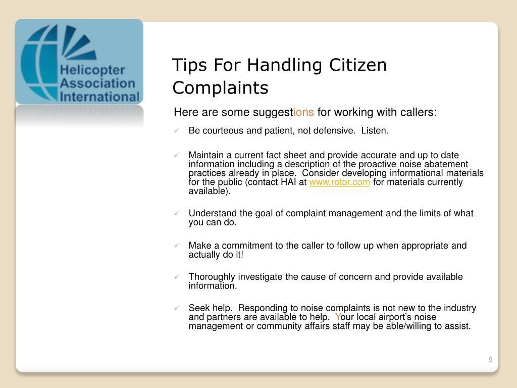 Tips For Handling Citizen