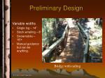 preliminary design32