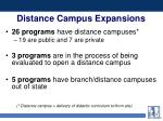 distance campus expansions