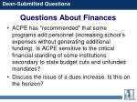 questions about finances49
