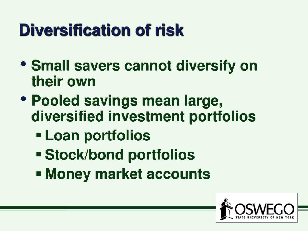 Diversification of risk