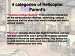 4 categories of helicopter parent s
