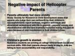 negative impact of helicopter parents