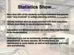 statistics show