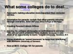 what some colleges do to deal