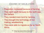 causes of migration