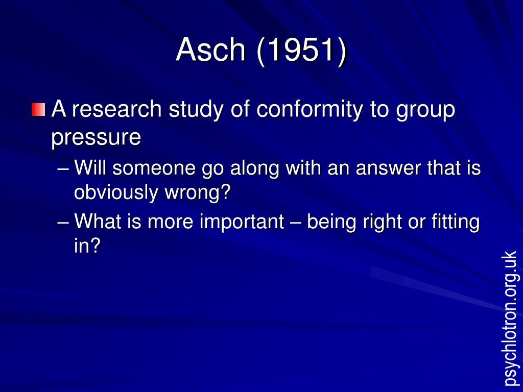 Asch (1951)
