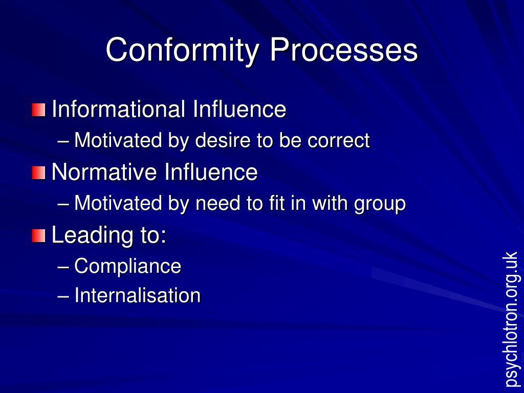 Conformity Processes