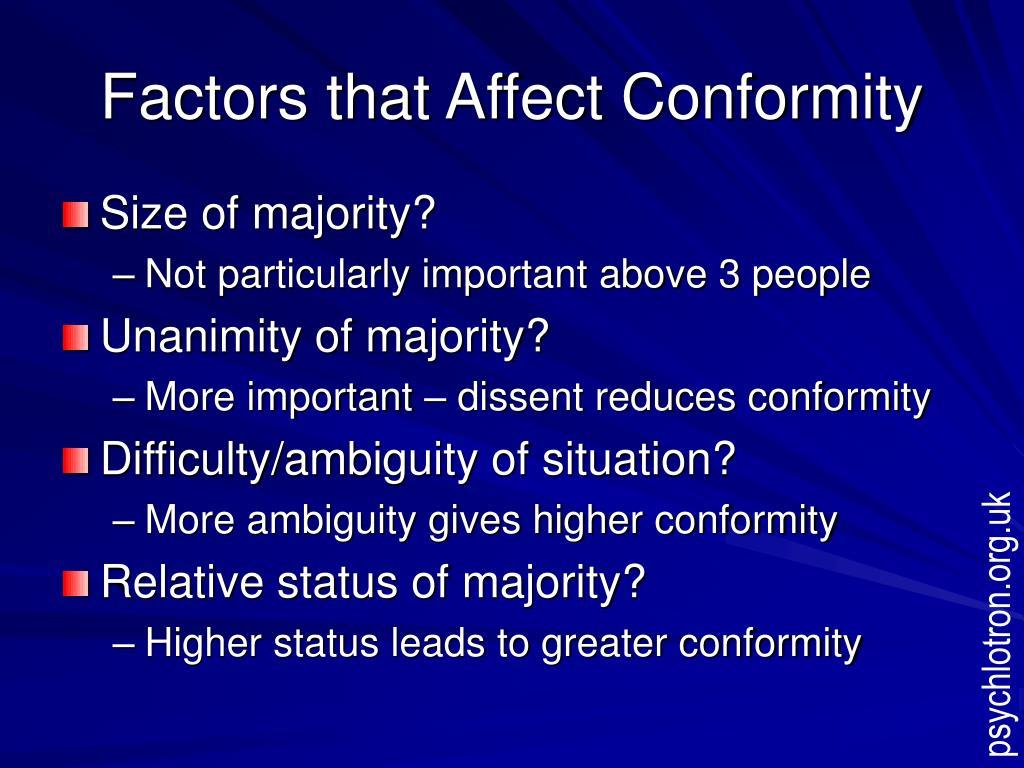 Factors that Affect Conformity