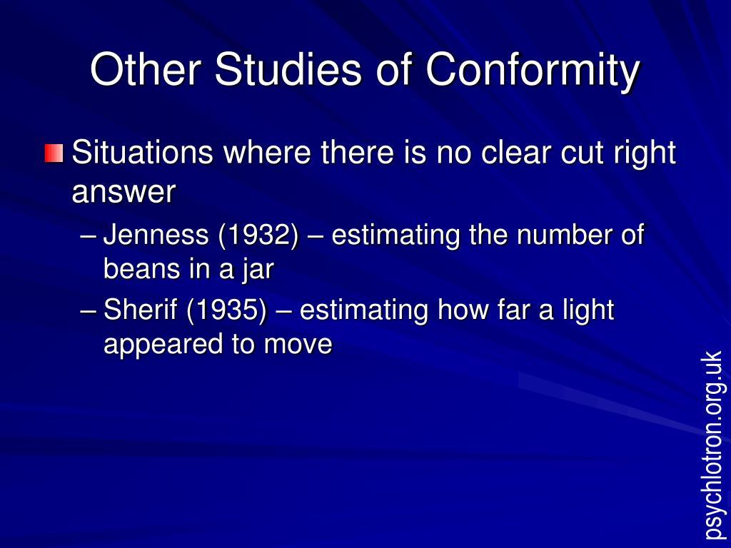 Other Studies of Conformity