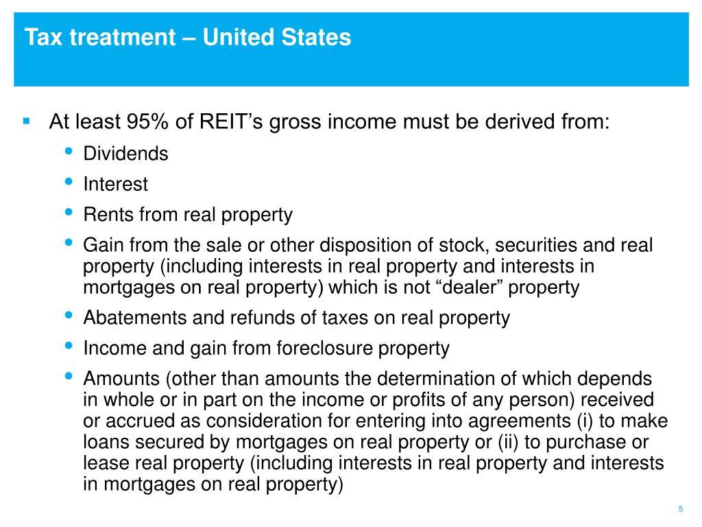 tax treatment of reit dividends