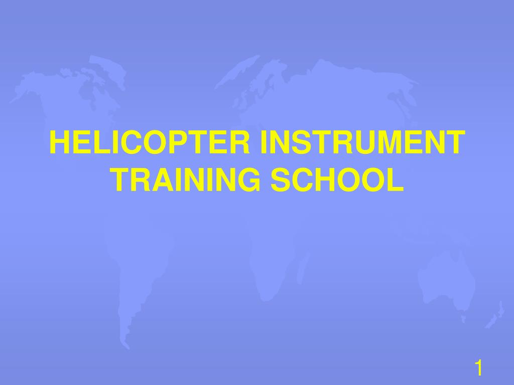 helicopter instrument training school l.