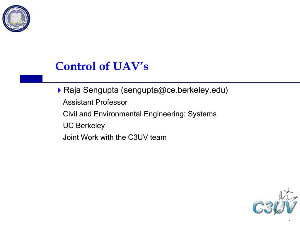 control of uav s l.