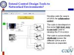 extend control design tools to networked environments