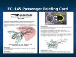 ec 145 passenger briefing card