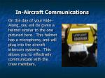 in aircraft communications