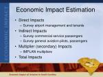 economic impact estimation
