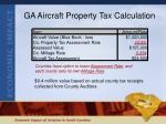ga aircraft property tax calculation
