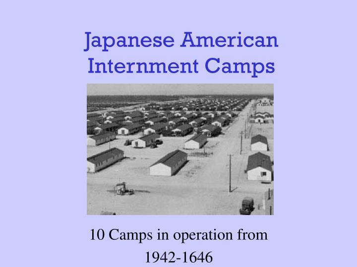 japanese american internment camps n.