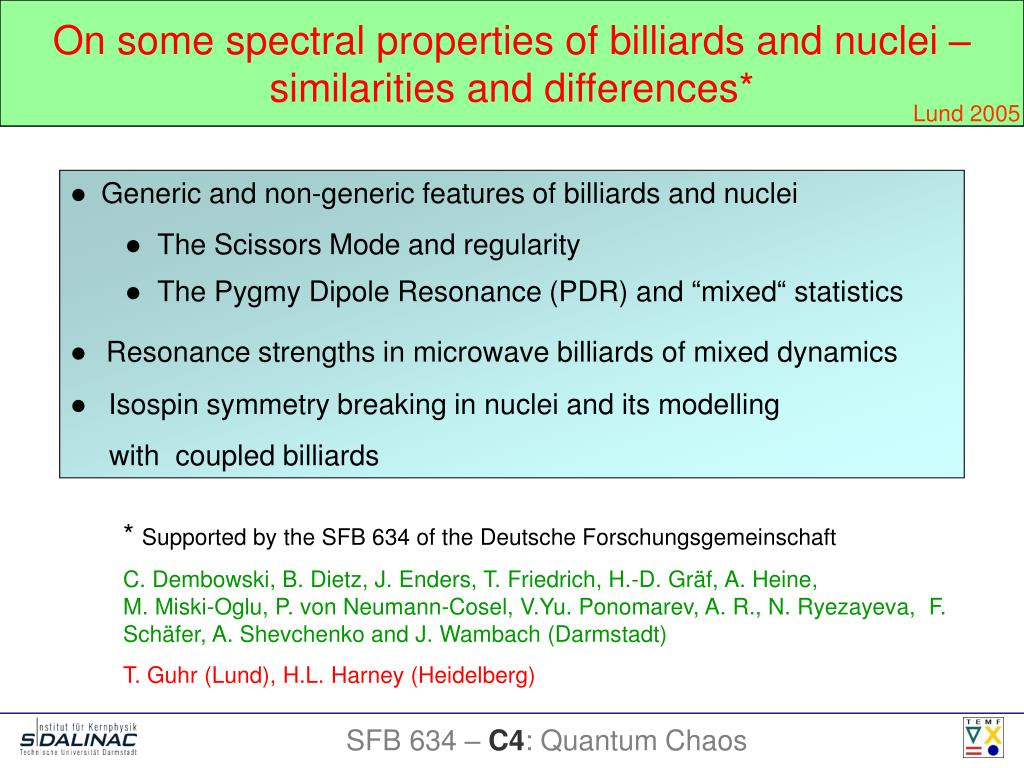 On some spectral properties of billiards and nuclei – similarities and differences*
