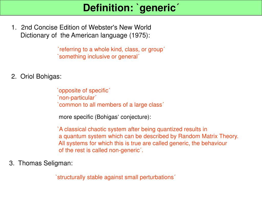 Definition: `generic´