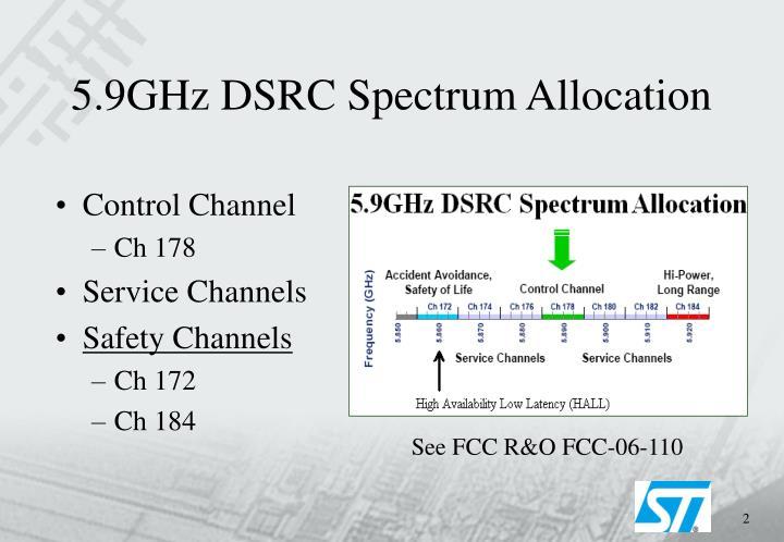 5 9ghz dsrc spectrum allocation