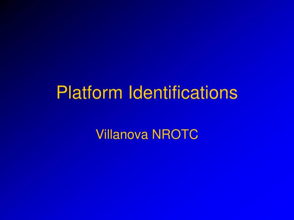 platform identifications l.